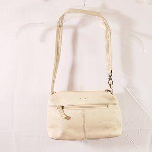 Stone Mountain Ivory Color Shoulder Handbag Purse